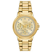 Citizen® Eco-Drive Womens Gold Tone Silhouette Crystal Watch Fd2042-51P