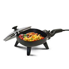 Elite Cuisine EFS-400 7-Inch Non-Stick Electric Skillet with Glass Lid