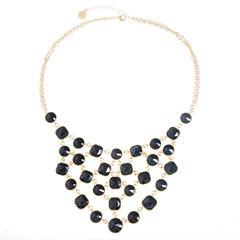 Monet Jewelry Black Statement Necklace