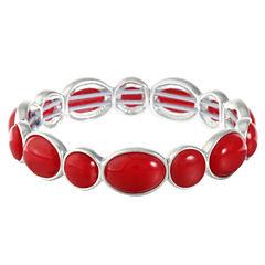 Liz Claiborne Womens Red Stretch Bracelet