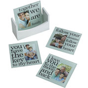 Melannco Set of 4 Sentiment 2x3 Photo Coasters