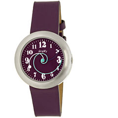 Simplify Unisex The 2700 Plum Leather-Band Watch SIM2707