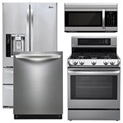 LG Super Capacity French-Door  4-pc. Kitchen Package- Stainless Steel