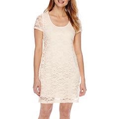 Tiana B. Short-Sleeve Lace Sheath Dress - Petite