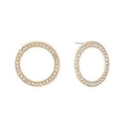 Monet Jewelry Clear Stud Earrings