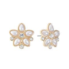 Monet Jewelry White Stud Earrings