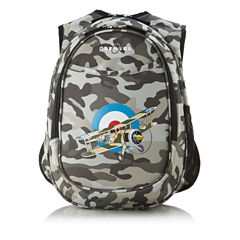 Obersee® Camo Airplane Kids All-In-One Backpack with Integrated Cooler
