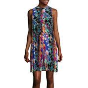 nicole by Nicole Miller® Sleeveless Pleated Swing Dress