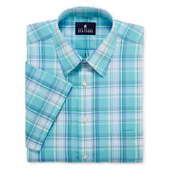 Stafford® Travel Short-Sleeve Easy-Care Broadcloth Dress Shirt - Big & Tall