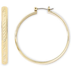 Monet® Gold-Tone Large Hoop Earrings