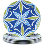 Certified International Mediterranean Melamine Set of 6 Salad Plates