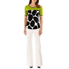 Worthington® Colorblock Top or Curvy Trouser Pants