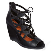Mia® Girl Cachi Lace-Up Wedges