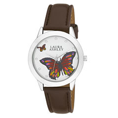 Laura Ashley Ladies Silver Butterfly Dial Watch La31014Ss