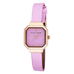 Laura Ashley Womens Pink Petite Case With Matching Colored Sunray Dial Watch La31004Pk