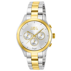 Invicta® Womens Two Tone Silver Dial Stainless Steel Angel Bracelet Watch 13725