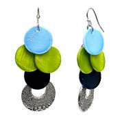 Mixit™ Silver-Tone Shell Drop Earrings