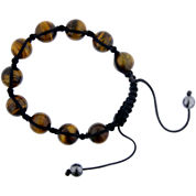 Mens Shamballa Tiger's Eye Bead Bracelet