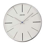 Seiko® Silver Tone Quiet Sweep Wall Clock Qxa634Alh