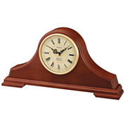 Seiko® Solid Oak Chime Tambour Mantel Clock Qxj008Blh