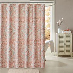 Madison Park Addison Printed Shower Curtain