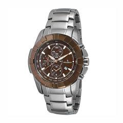 Peugeot Mens Silver Tone Bracelet Watch-1044br
