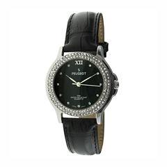 Peugeot Womens Black Strap Watch-336bk