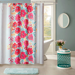 Intelligent Design Mina Printed Shower Curtain