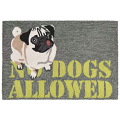 Liora Manne Frontporch No Dogs Allowed Hand Tufted Rectangular Rugs