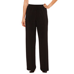 Alfred Dunner Saratoga Springs Woven Flat Front Pants
