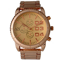 Olivia Pratt Mens Gold Dial Rose Gold Bracelet Watch 2197Grose
