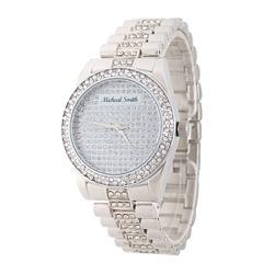 Personalized Mens Silver Tone Alloy Bracelet Watch