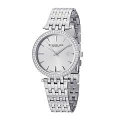 Stührling® Original Womens Crystal-Accent Stainless Steel Bracelet Watch