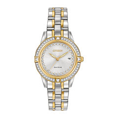 Citizen® Eco-Drive® Silhouette Womens Crystal-Accent Bracelet Watch FE1154-57A