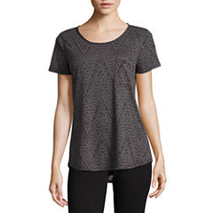 Made For Life Short Sleeve Crew Neck T-Shirt-Womens