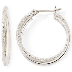 Monet® Silver-Tone Small Twist Hoop Earrings