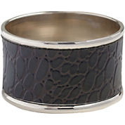 Set of 4 Black Crocodile Napkin Rings
