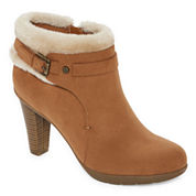 Liz Claiborne® Scrappy Heeled Ankle Booties
