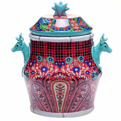Certified International Folklore Holiday Cookie Jar
