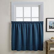 Addison Solid Twill Rod-Pocket Kitchen Curtains