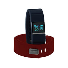 Itouch Ifitness Activity Tracker Black/Navy And Red Interchangeable Band Unisex Multicolor Strap Watch-Ift5416bk668-Rdn