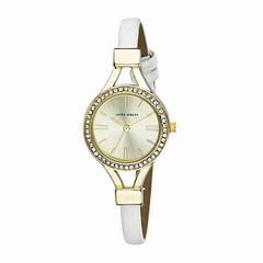 Laura Ashley Womens White Strap Watch-La31025yg