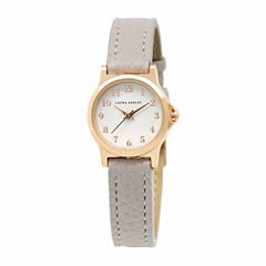 Laura Ashley Petite Band Womens Gray Strap Watch-La31028rg