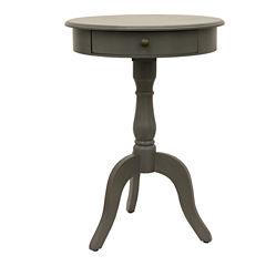Decor Therapy Pedestal 1-Drawer Storage End Table