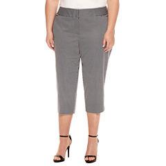 Worthington® Sateen Cropped Pants - Plus