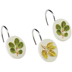 Avanti Foliage Garden Shower Curtain Hooks