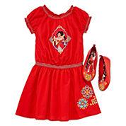 Disney Elena Short-Sleeve Dress or Flat Shoes - Girls