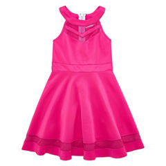 EM Pink Illusion Scuba Skater - Girls' 7-16