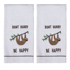 Saturday Knight 2-Pack Sloth Hand Towel Set