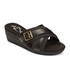A2 by Aerosoles Florist Womens Wedge Sandals